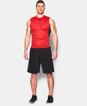 Men's UA HeatGear® Armour Printed Sleeveless Compression Shirt   $26.99