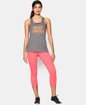 Women's UA Charged Cotton® Tri-Blend Under Armour Tank  1 Color $18.99