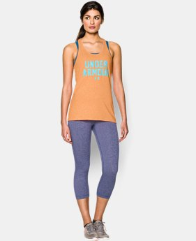 Women's UA Charged Cotton® Tri-Blend Under Armour Tank  1 Color $14.99 to $18.99