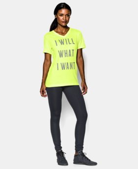 Women's UA Charged Cotton® Tri-Blend I WILL T-Shirt