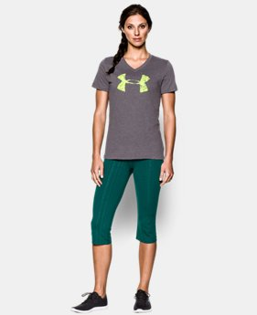 Women's UA Charged Cotton® Tri-Blend Painted Logo T-Shirt