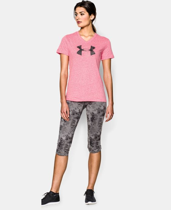 Women's UA Charged Cotton® Tri-Blend Painted Logo T-Shirt LIMITED TIME: FREE U.S. SHIPPING 1 Color $24.99