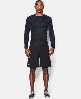 Men's UA HeatGear® Armour Printed Long Sleeve Compression Shirt  5 Colors $33.99