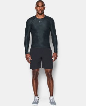 Men's UA HeatGear® Armour Printed Long Sleeve Compression Shirt  1 Color $44.99