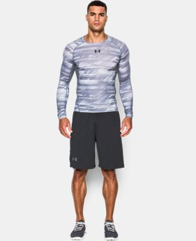 Men's UA HeatGear® Armour Printed Long Sleeve Compression Shirt