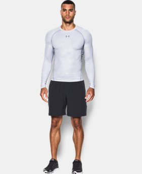 Men's UA HeatGear® Armour Printed Long Sleeve Compression Shirt   $44.99