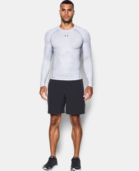 Men's UA HeatGear® Armour Printed Long Sleeve Compression Shirt  4 Colors $33.99 to $44.99
