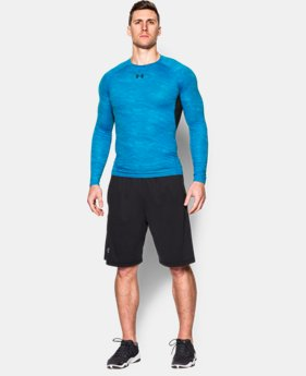 Men's UA HeatGear® Armour Printed Long Sleeve Compression Shirt  1 Color $25.49