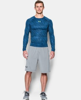 Men's UA HeatGear® Armour Printed Long Sleeve Compression Shirt   $22.49
