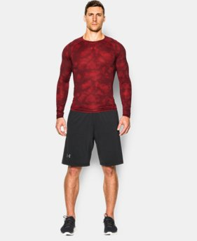 Men's UA HeatGear® Armour Printed Long Sleeve Compression Shirt  2 Colors $33.99