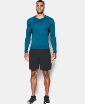 Men's UA HeatGear® Armour Printed Long Sleeve Compression Shirt   $39.99