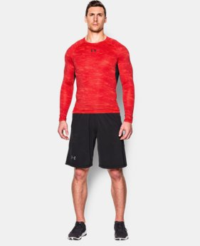 Men's UA HeatGear® Armour Printed Long Sleeve Compression Shirt  1 Color $22.49