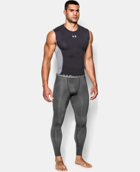 Men's UA HeatGear® Armour Printed Compression Leggings LIMITED TIME: FREE SHIPPING  $37.99
