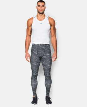 Men's UA HeatGear® Armour Printed Compression Leggings  4 Colors $26.99 to $33.99