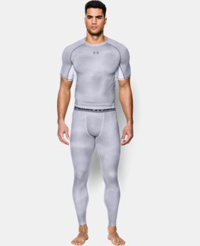 Men's UA HeatGear® Armour Printed Compression Leggings  1 Color $26.99 to $33.99