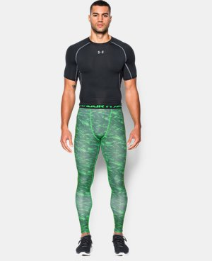 Men's UA HeatGear® Armour Printed Compression Leggings  1 Color $25.49 to $33.99