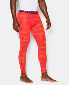 Men's UA HeatGear® Armour Printed Compression Leggings LIMITED TIME: FREE U.S. SHIPPING  $25.49 to $33.99