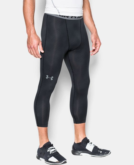 Men's UA HeatGear® Armour Printed ¾ Leggings LIMITED TIME: FREE U.S. SHIPPING 1 Color $29.99