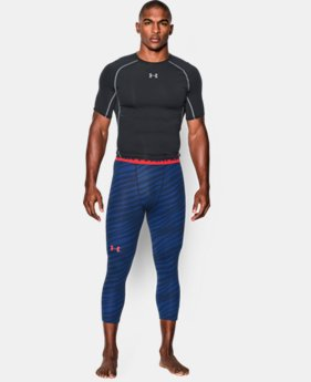 Men's UA HeatGear® Armour Printed ¾ Leggings  2 Colors $29.99
