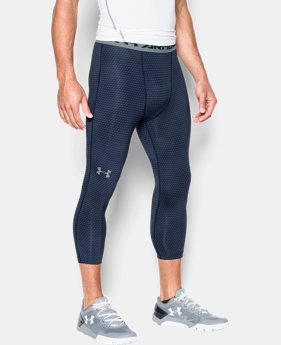 Men's UA HeatGear® Armour Printed ¾ Leggings  1 Color $44.99
