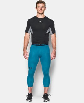 Men's UA HeatGear® Armour Printed ¾ Leggings
