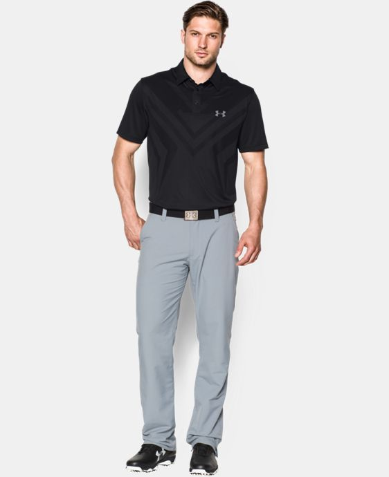 Men's HeatGear® ArmourVent™ Tips Polo  1 Color $50.99