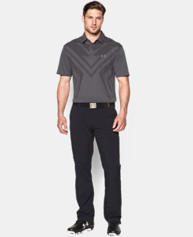 New to Outlet Men's HeatGear® ArmourVent™ Tips Polo  1 Color $44.99