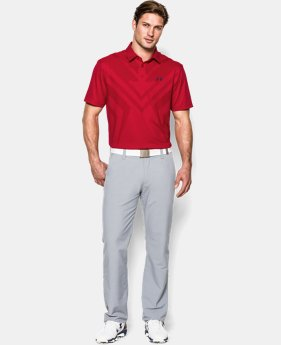 Men's HeatGear® ArmourVent™ Tips Polo  1 Color $67.99