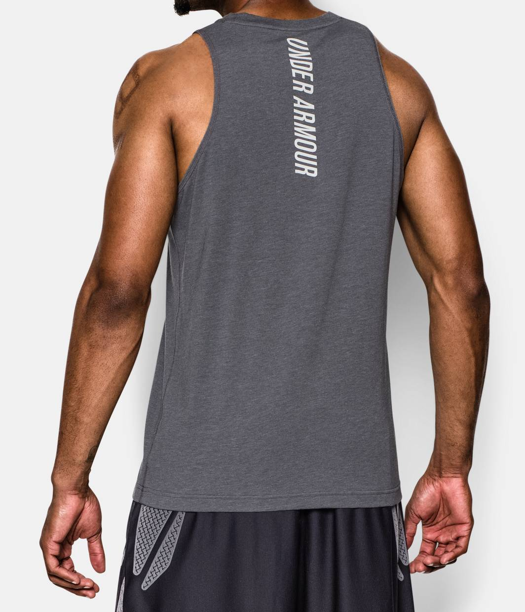 men 39 s charged cotton jus sayin too tank under armour us. Black Bedroom Furniture Sets. Home Design Ideas