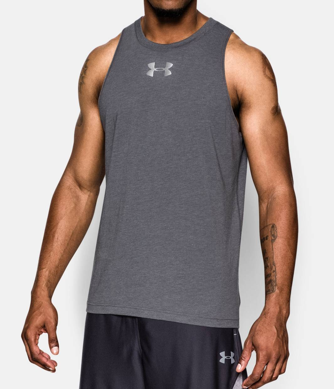 men s charged cotton jus sayin too tank under armour us. Black Bedroom Furniture Sets. Home Design Ideas