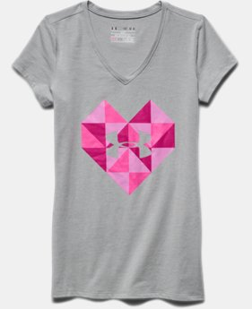 Girls' UA Heart Logo V-Neck