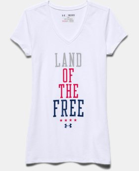 Girls' UA Land Of The Free V-Neck