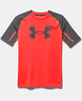 Boys' UA HeatGear® Armour UPF 50 ½ Sleeve