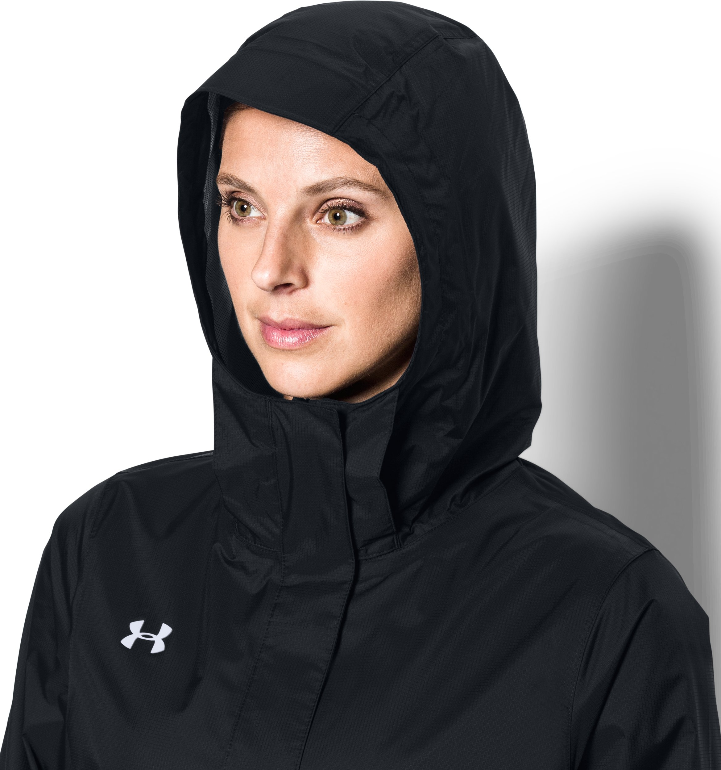 Women's UA Ace Rain Jacket, Black ,