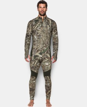 Men's UA ColdGear® Armour Scent Control ¼ Zip