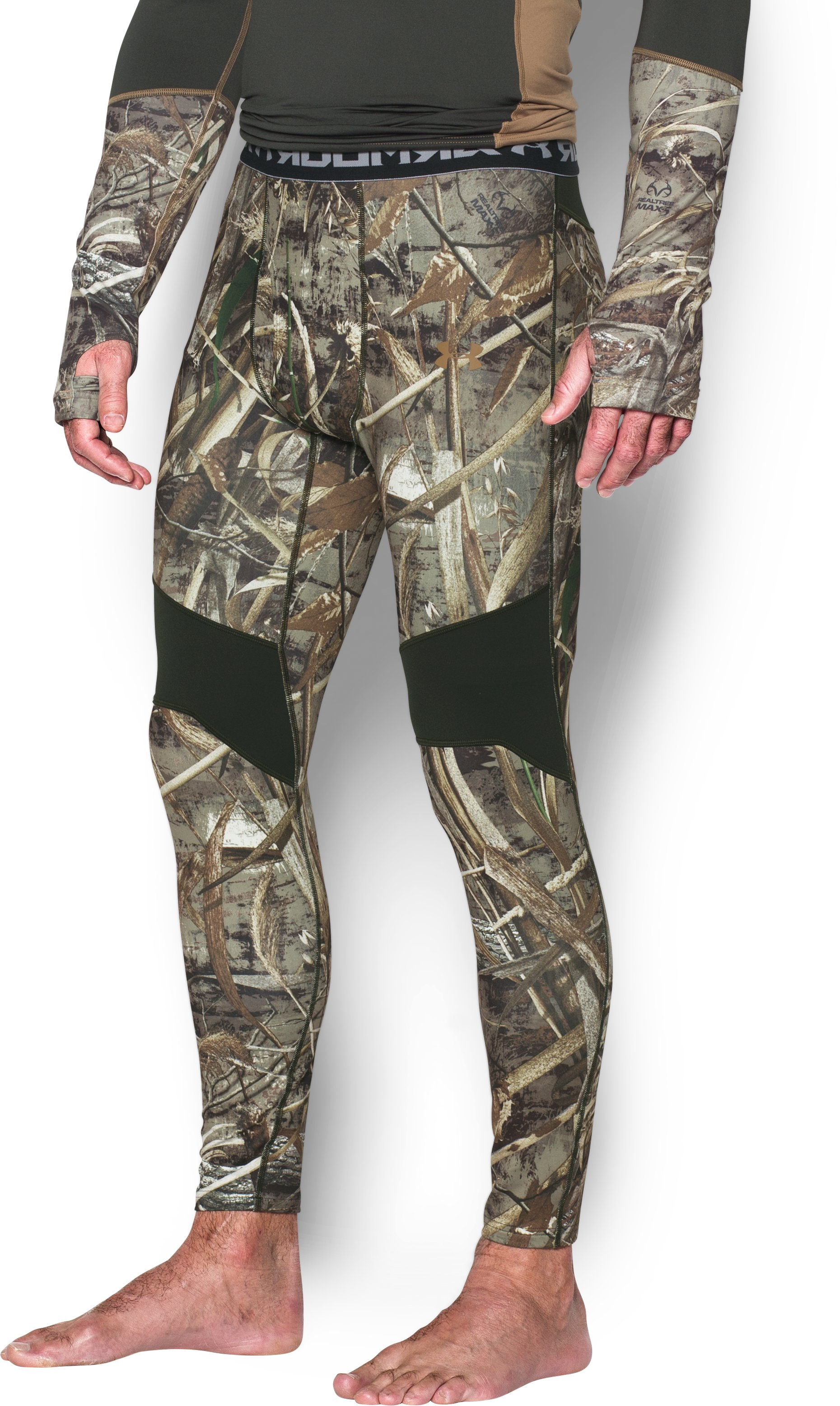 Men's UA ColdGear® Armour Scent Control Leggings, REALTREE MAX 5