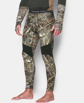 Men's UA ColdGear® Armour Scent Control Leggings LIMITED TIME OFFER 3 Colors $56.24