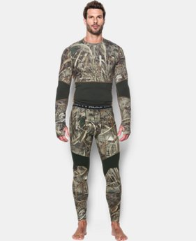 Men's UA ColdGear® Armour Scent Control Leggings  3 Colors $74.99