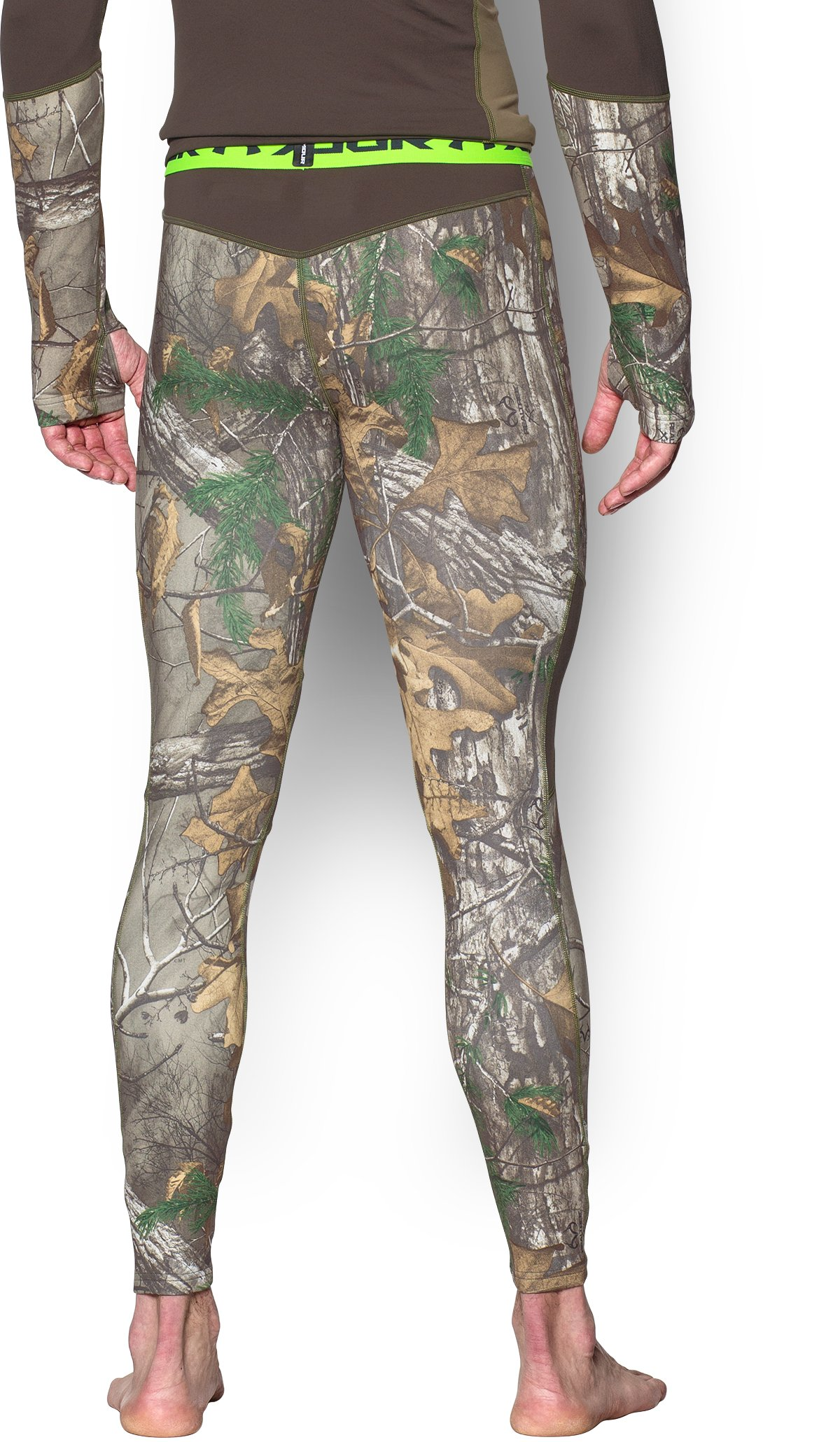 Men's UA ColdGear® Armour Scent Control Leggings, REALTREE AP-XTRA,