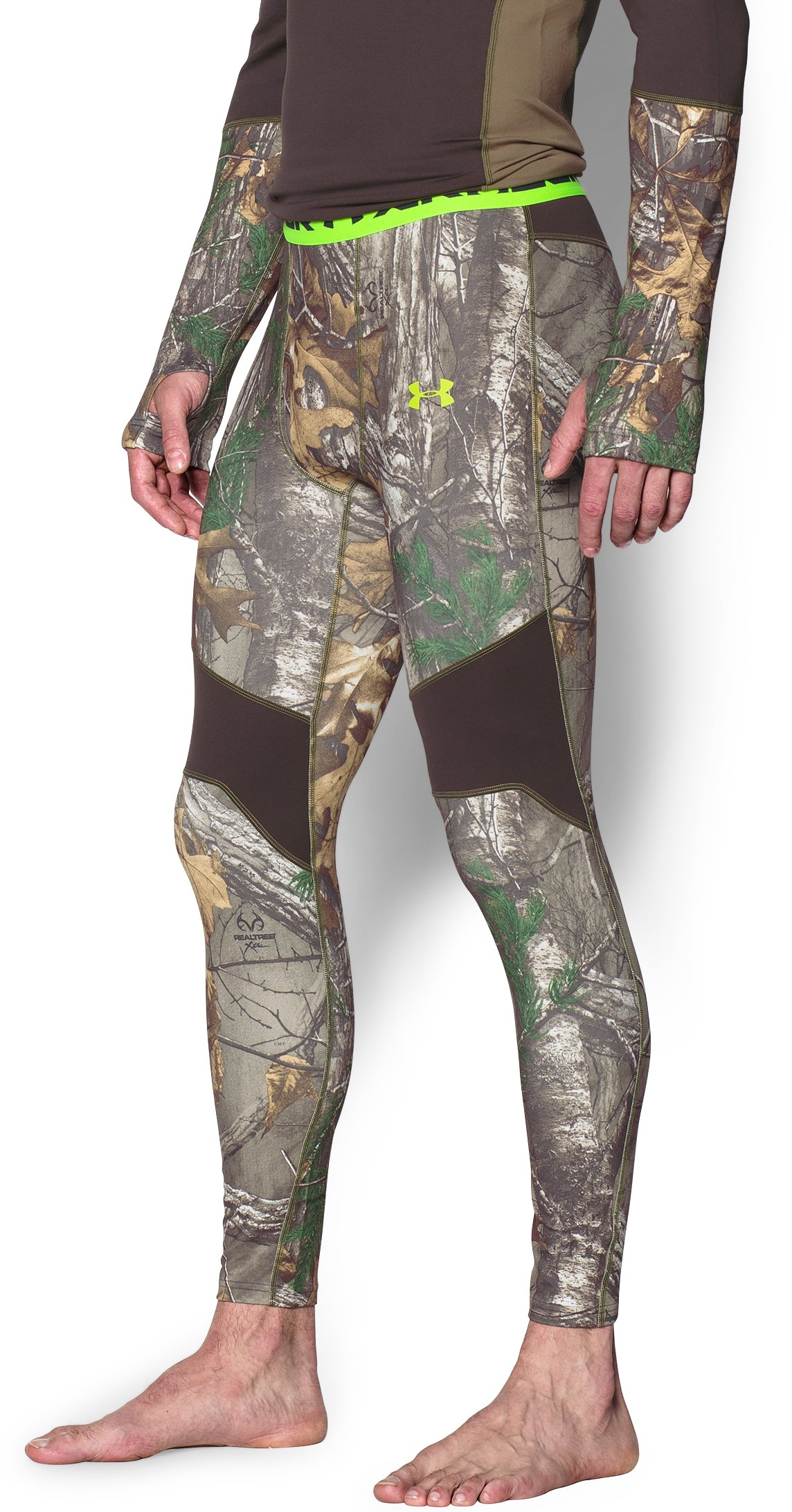 Men's UA ColdGear® Armour Scent Control Leggings, REALTREE AP-XTRA