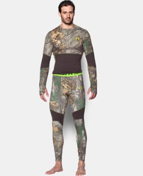 Men's UA ColdGear® Armour Scent Control Leggings LIMITED TIME OFFER + FREE U.S. SHIPPING 1 Color $56.24