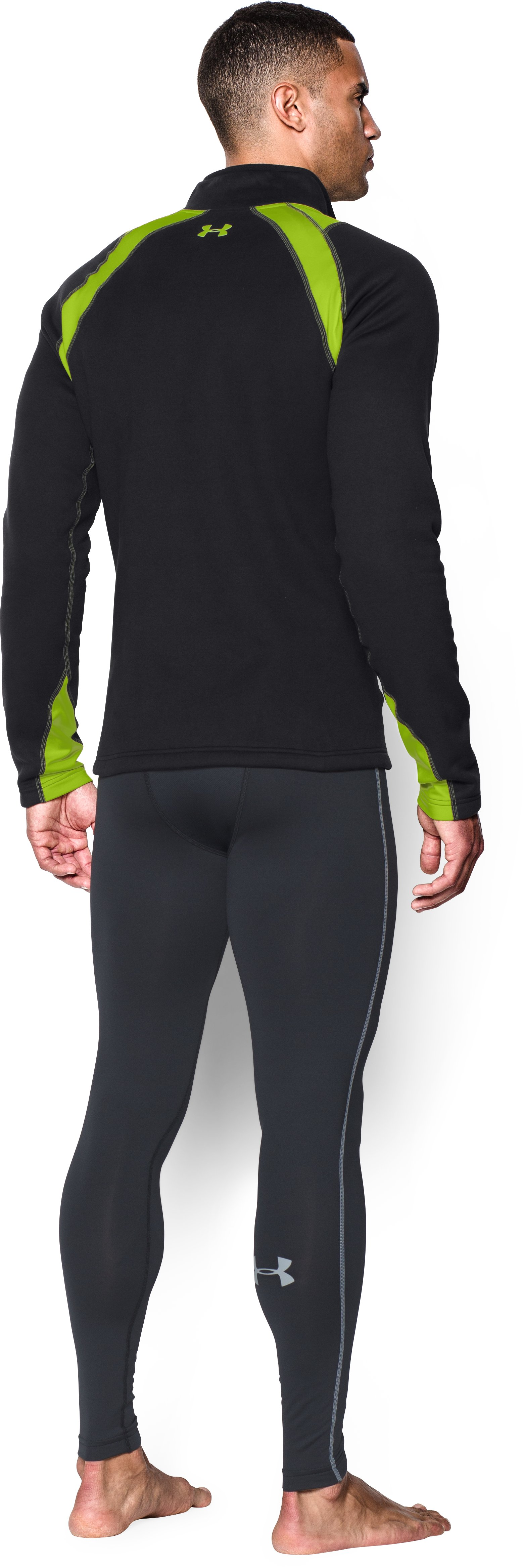Men's UA Base™ Scent Control Extreme Long Sleeve, Black , Back