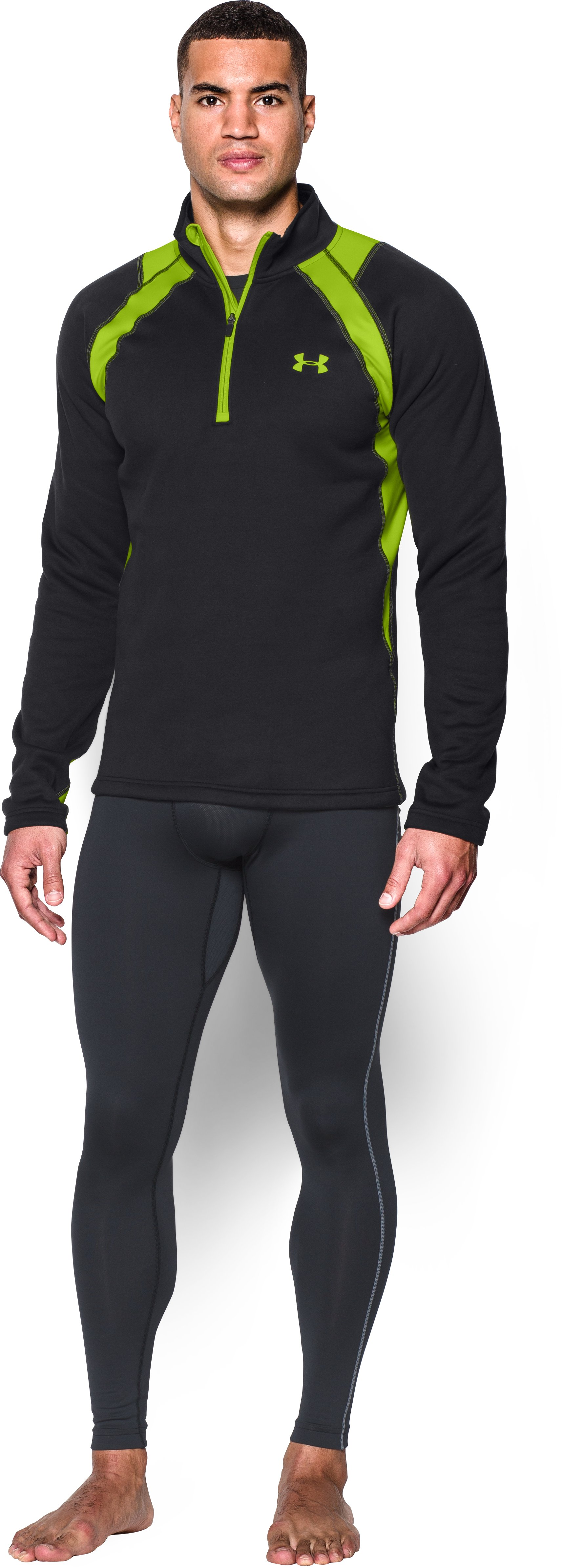 Men's UA Base™ Scent Control Extreme Long Sleeve, Black , Front