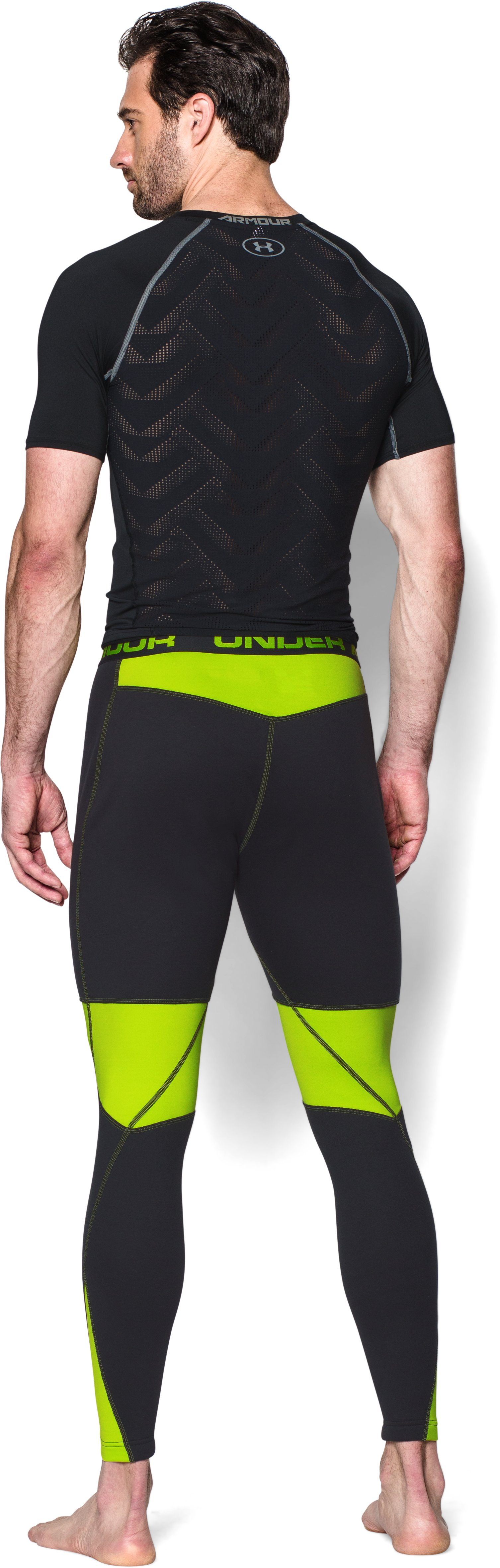 Men's UA Base™ Scent Control Extreme Leggings, Black , Back