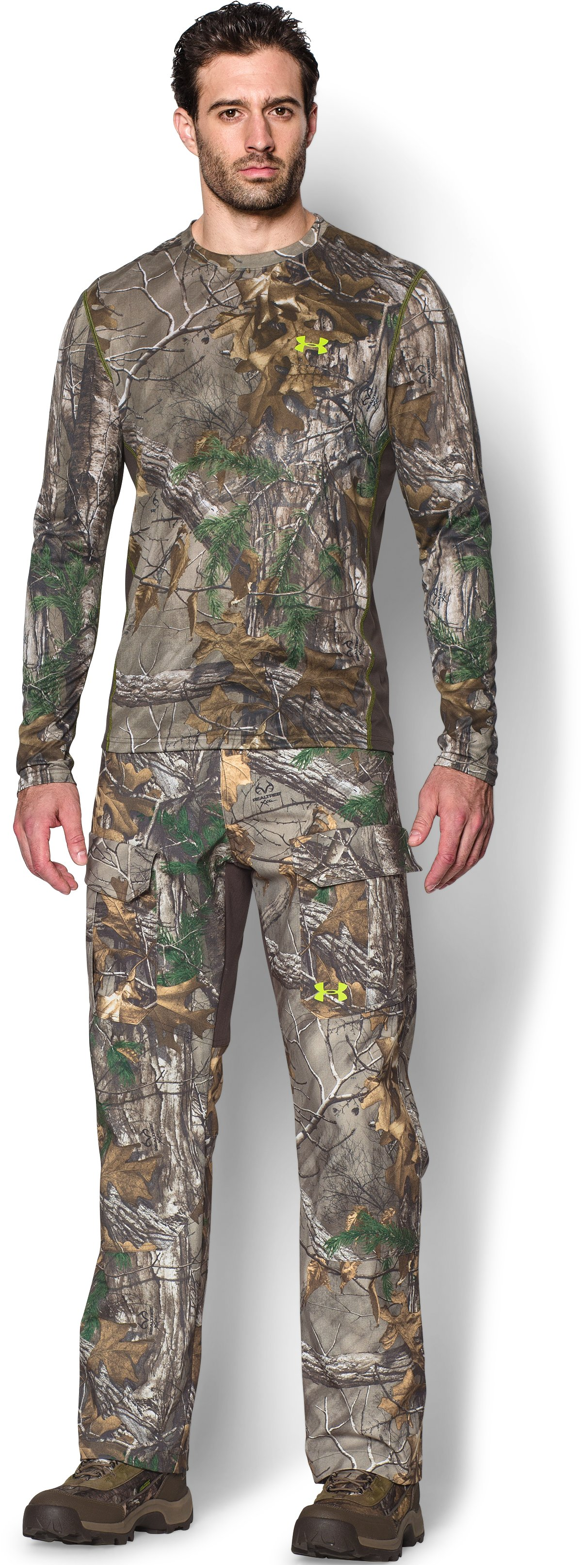 Men's UA Tech™ Scent Control Long Sleeve T-Shirt, REALTREE AP-XTRA, Front