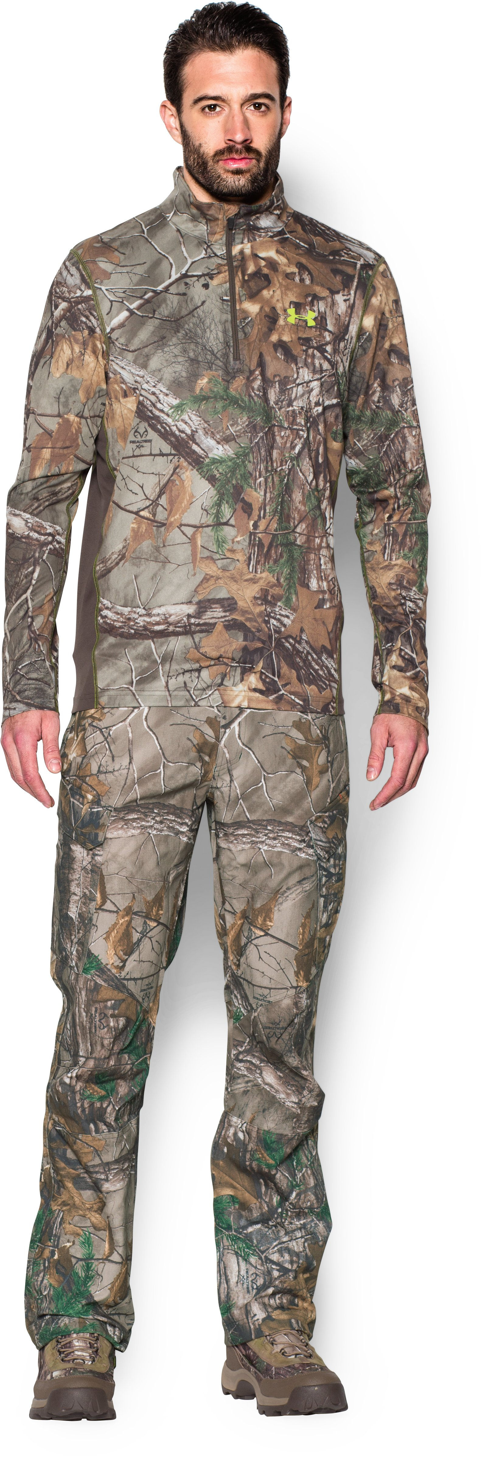 Men's UA Tech™ Scent Control ¼ Zip, REALTREE AP-XTRA, Front