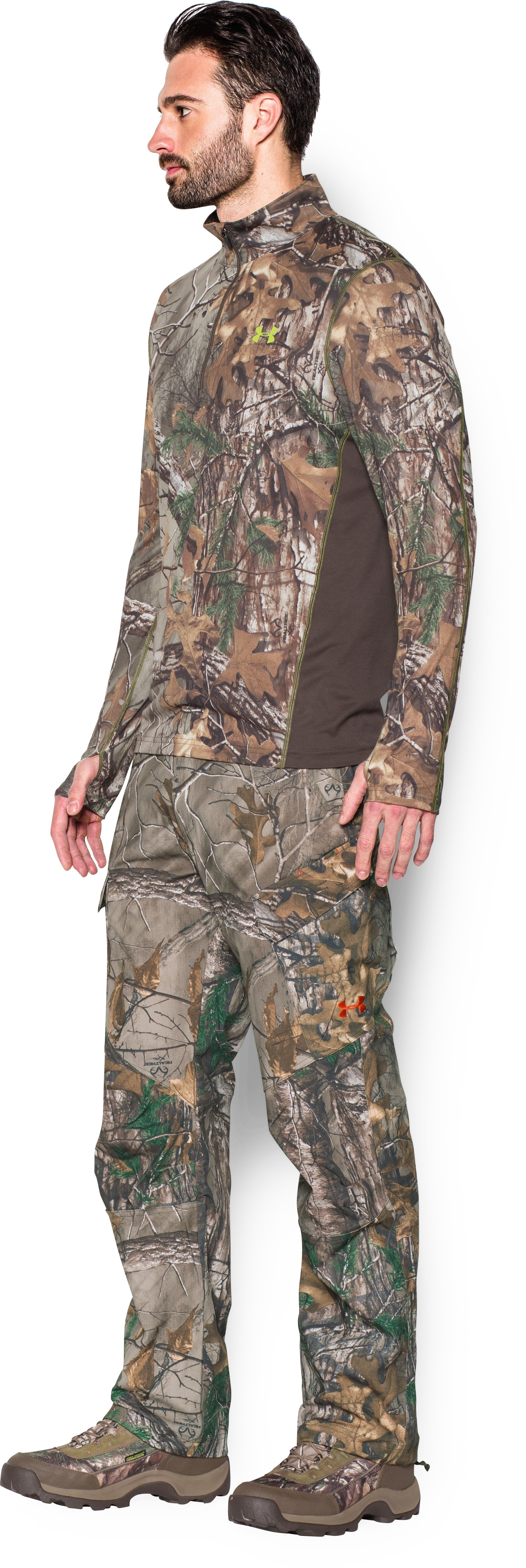 Men's UA Tech™ Scent Control ¼ Zip, REALTREE AP-XTRA,