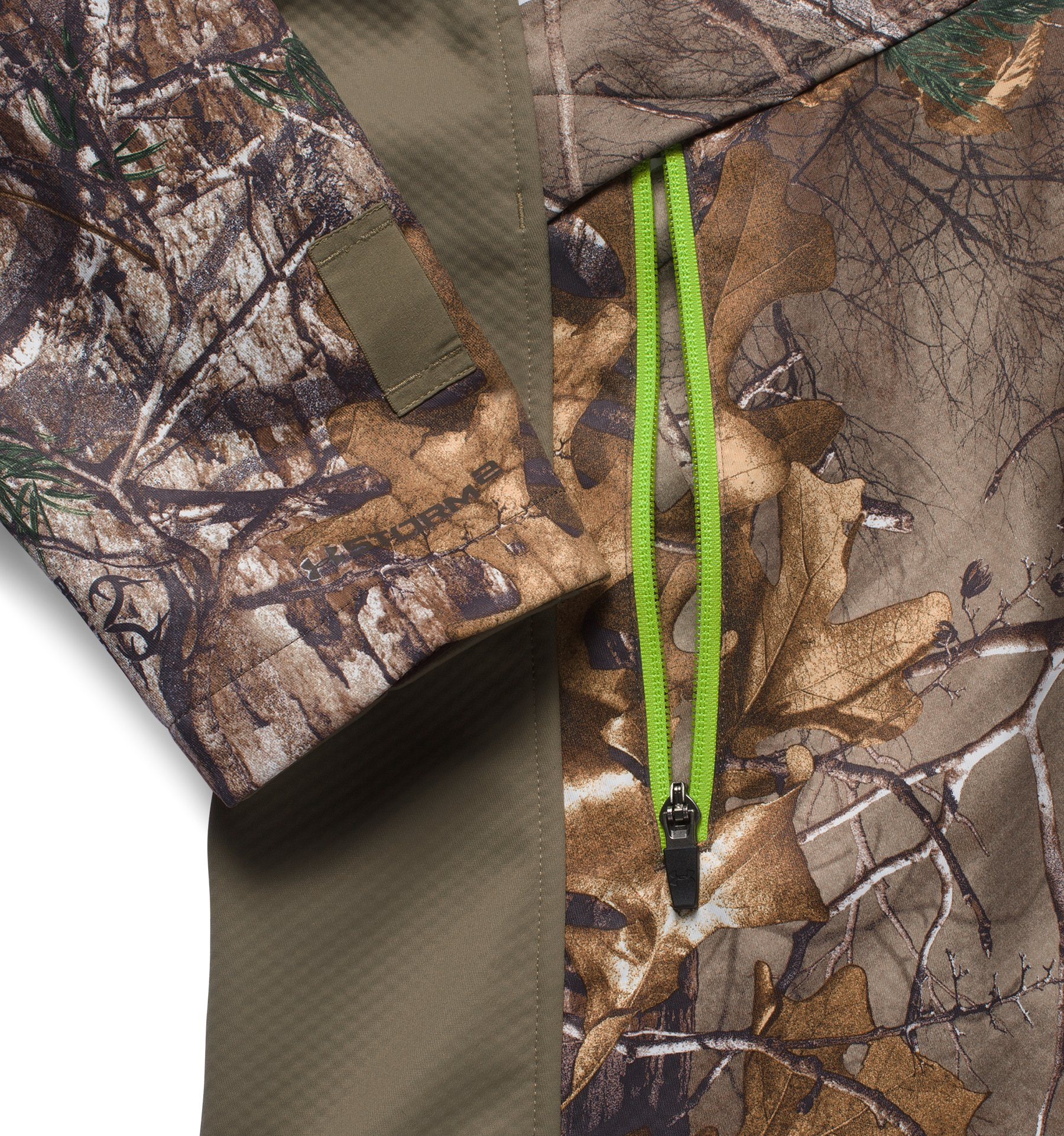 Men's UA Storm Scent Control Softershell Jacket, REALTREE AP-XTRA, undefined
