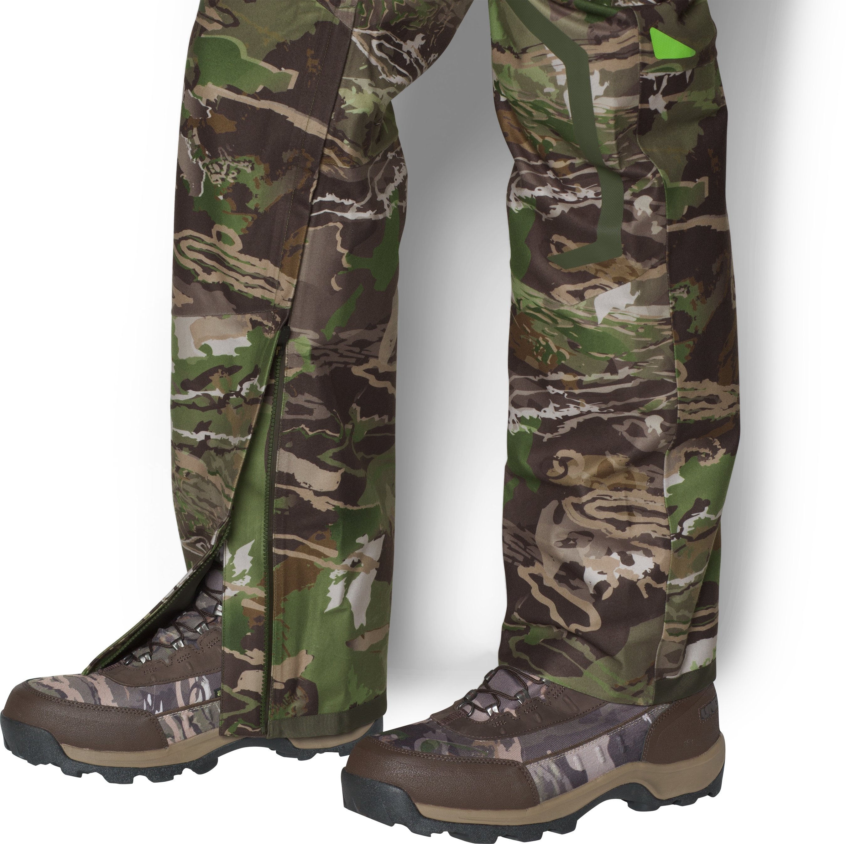 UA Storm Gore-Tex® Essential Rain Pants, RIDGE REAPER® FOREST, undefined