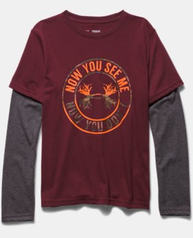 Boys' UA Now You See Me 2-in-1 Long Sleeve T-Shirt